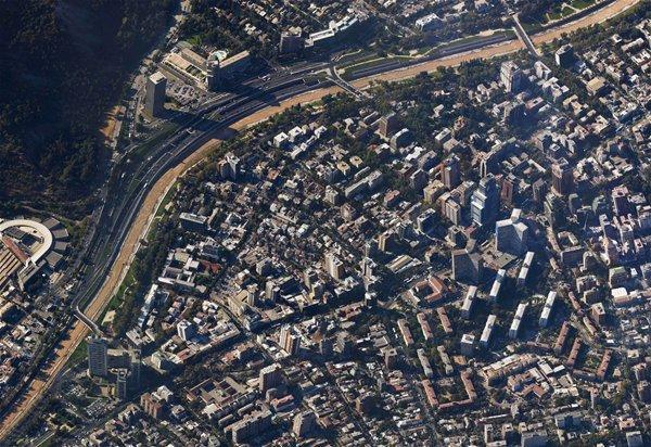 Providencia 45º, Santiago de Chile (Picture build from pieces of Google Maps), Nicolás Rebolledo Bustamante