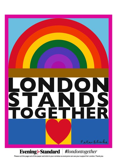 London Stands Together by Sir Peter Blake. Courtesy The Evening Standard