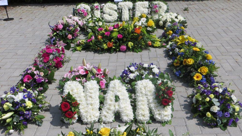 Funeral flowers at City of London Crematorium