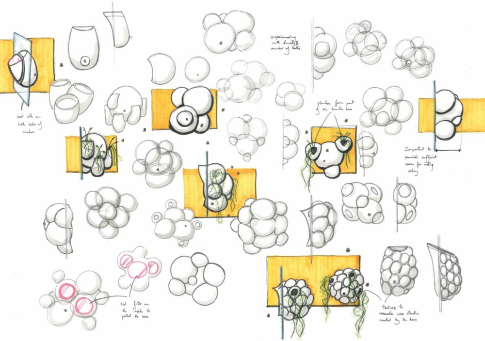 A few concept sketches of the Beeosphere.
