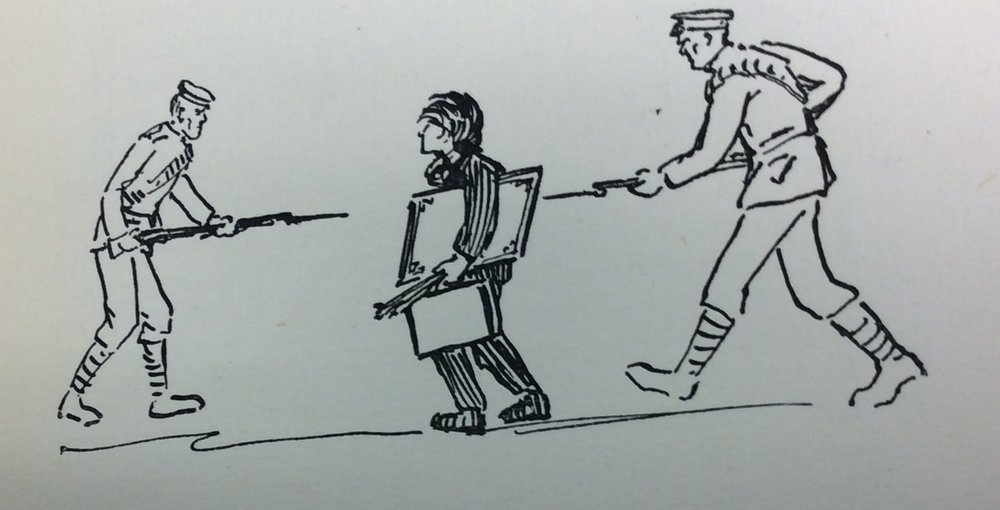 Illustration from the Students' Magazine, First World War
