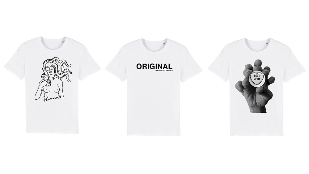 Images (left to right): T-shirt designs by: Pandemonia, Yvonne Gold and Reiss Dendie
