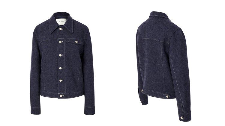 Denim jacket by Yvonne LIm, Shaonan Xu (The Array) & Joshua Ellis