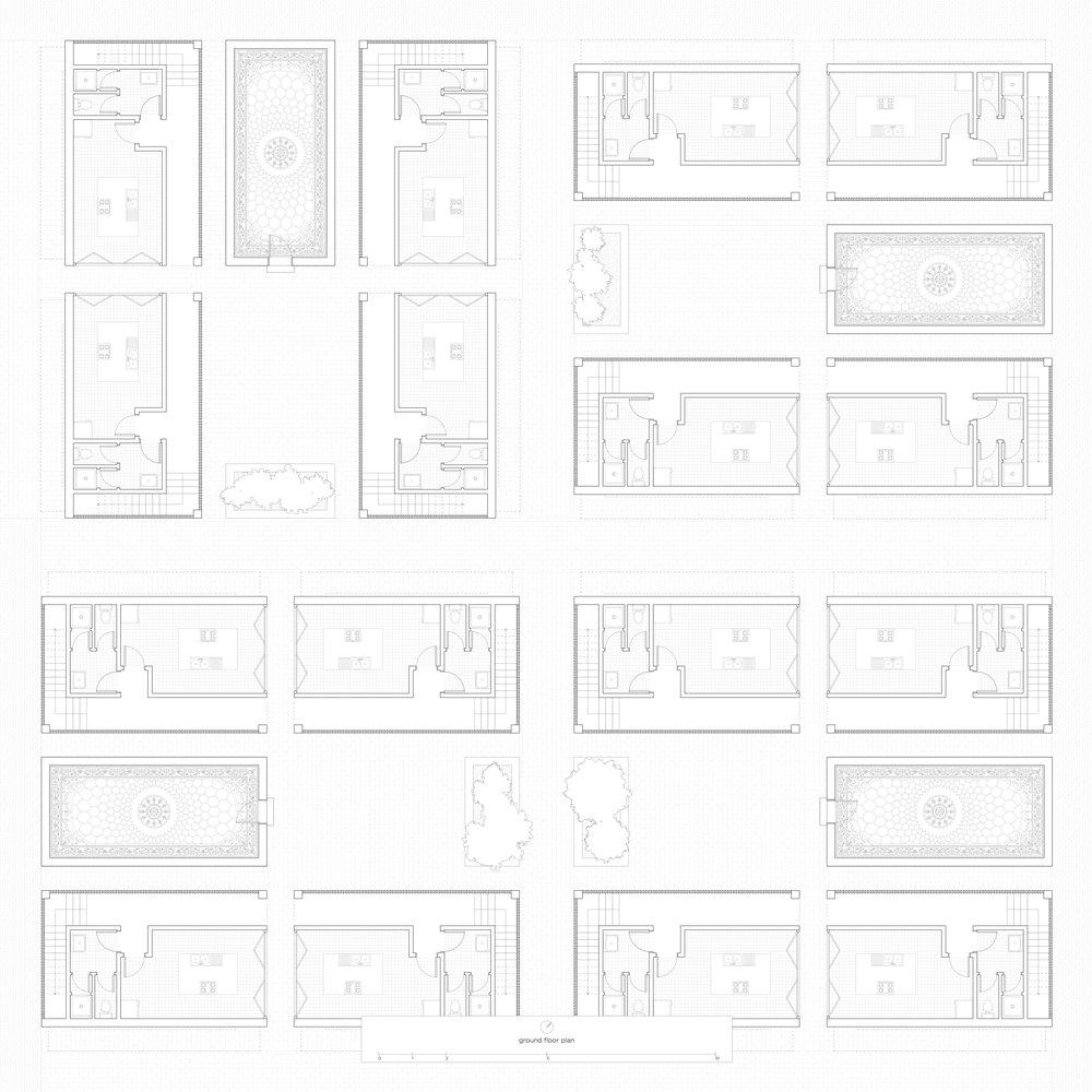 The units, ground floor plan