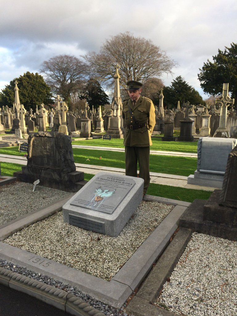 Re-enactment of Padraig Pearse's speech at the grave of Jeremiah O'Donovan Rossa, Glasnevin Cemetery, Dublin