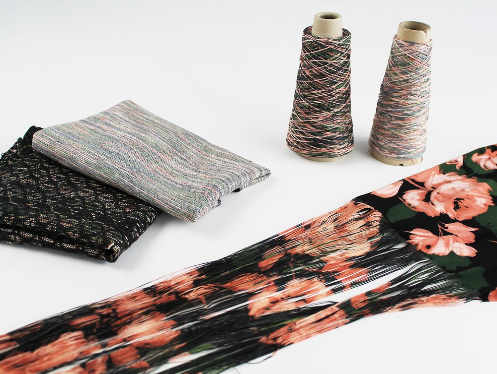 The materials out of waste textiles