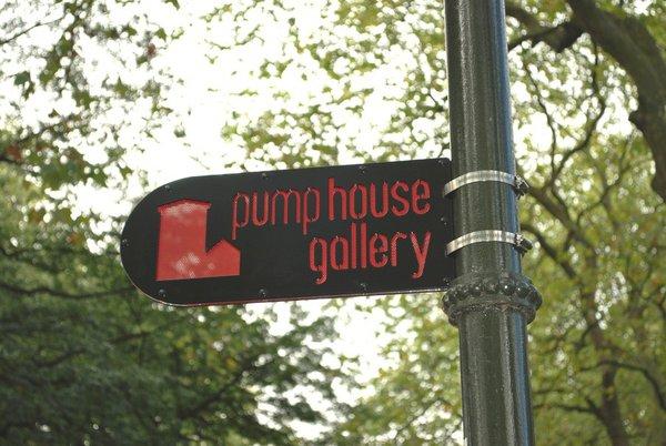 Pumphouse Gallery wayfinding system