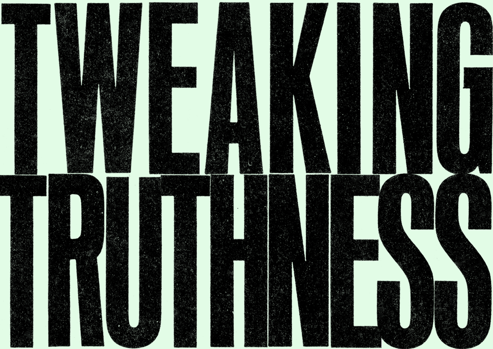 Tweaking Truthness, Group ∀Ǝ, Typographic Composition, 1971