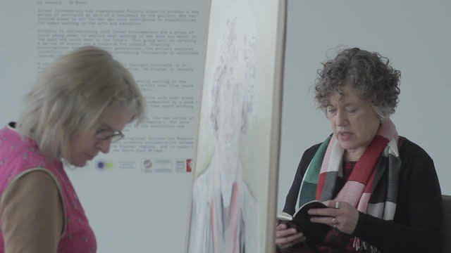 Still from As If They Existed, with Felicity Allen and Anne Wagner
