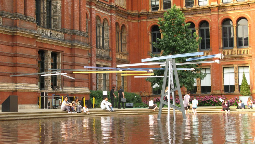A very large mobile. V&A, London