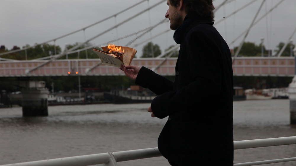 Burning 'The Waste Land' on the Bank of the Thames