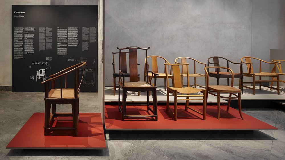 The Ming chairs and Hans Wegner's China Chairs at the exhibition 'Wegner – Just One Good Chair'